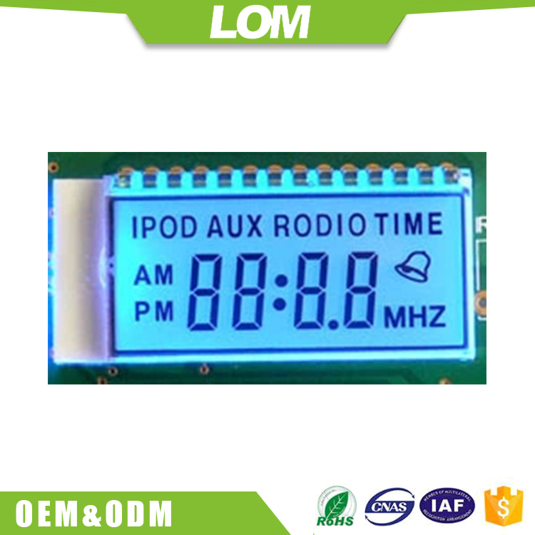 alphanumeric lcd display screen module for vehicle