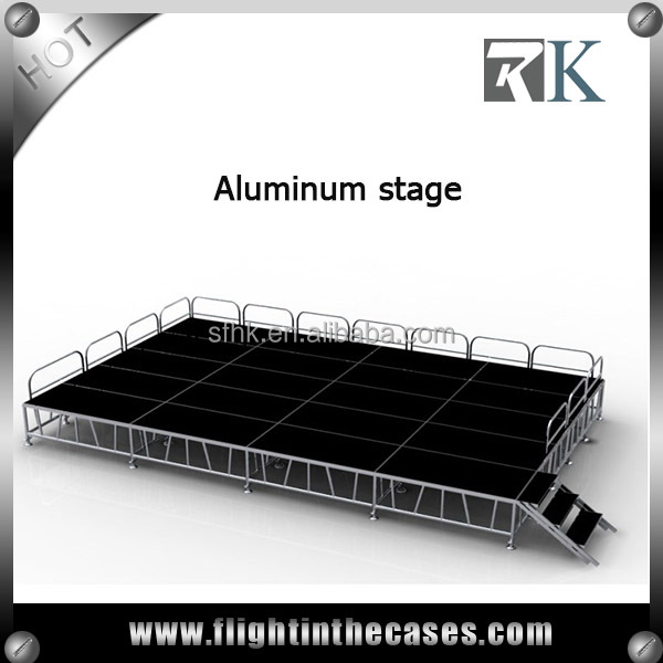Wedding outdoor concert stage sale price finished the stage glass portable stage