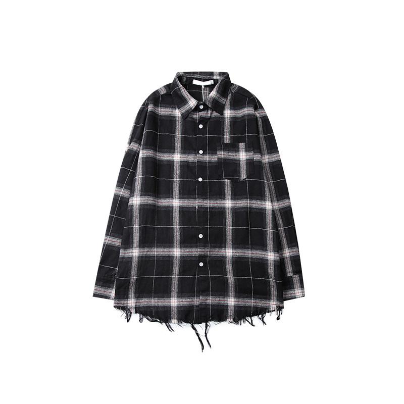 private label men's plaid flannel shirt