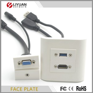 Keystone Network USB+HDMI Multimedia Faceplate