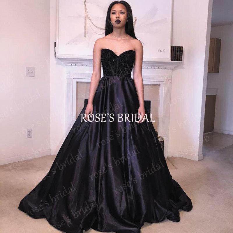 elegant black prom dresses - photo #32
