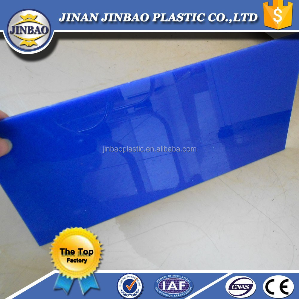 competitive price good quality acrylic sheet transparent blue/yellow