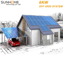 SUNHOME 6KW residential solar energy on grid system for commerical