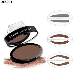 2017 Hot Eyebrow Powder Seal Eyebrow Shadow Set Waterproof Eyebrow Stamp Natural Shape Brow Stamp Powder Palette