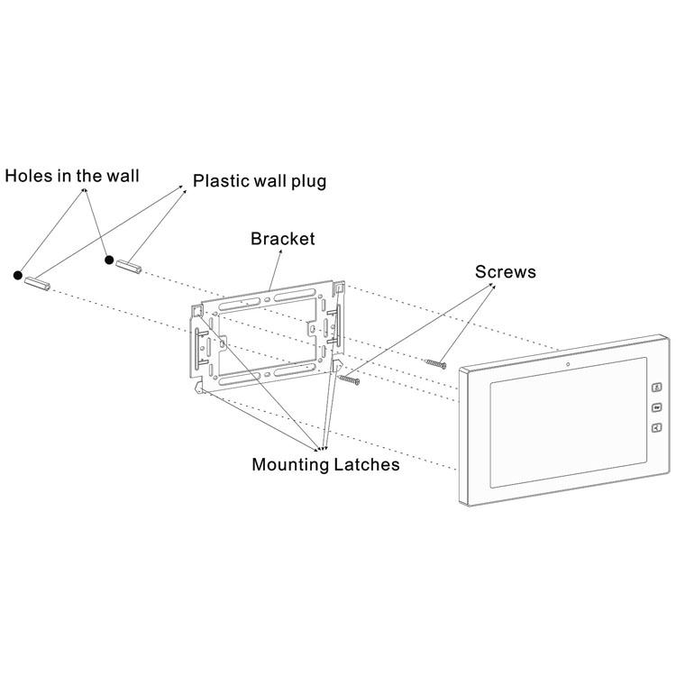 NEW Digital TCP/IP video door phone video intercom IP intercom10 inch indoor screen system