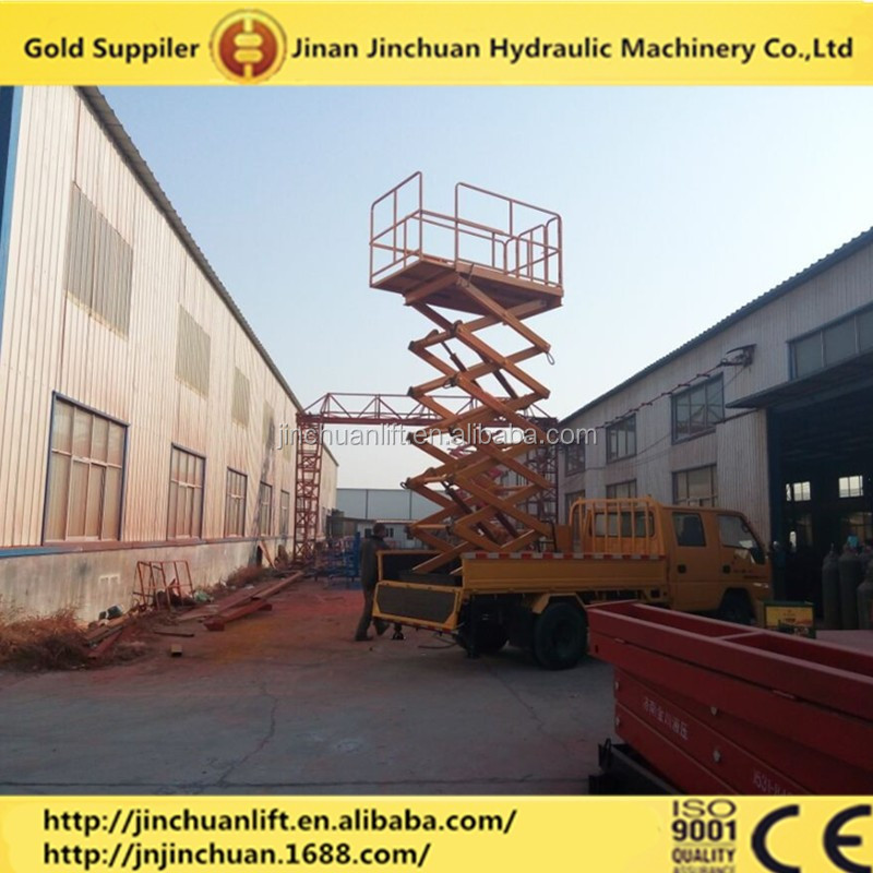 mobile hydraulic truck mounted scissor lifter/man lift work platform