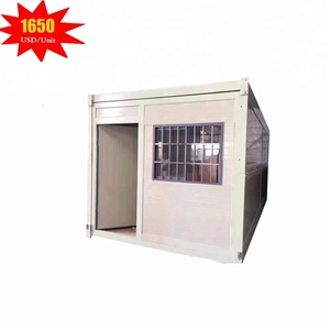 Cheap prefabricated movable foldable living container modular house