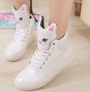 Quality guaranteed latest ladies cat sneakers shoes 2016 fashion high heel women shoes