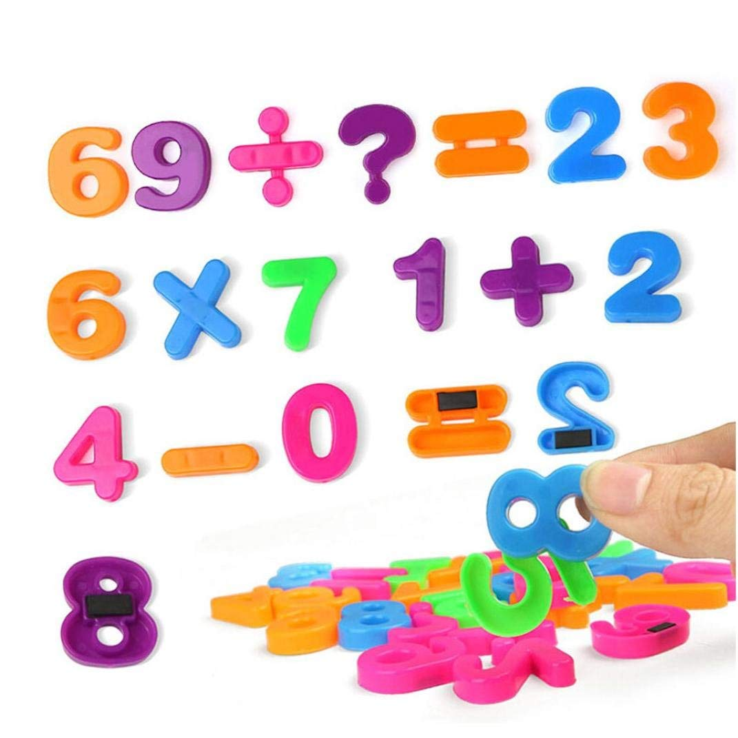Dreamyth Numbers game toys, 26 Numbers Math blackboard Blocks Magnet Educational Intelligence Baby Toy (Multicolor B)