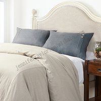 Top quality comfortable 100% linen luxury embroidery bedding set