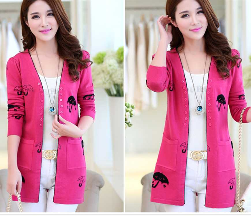 b3a6632025e New Arrive new 2015 ladies knitted girls Cardigan slim umbrella long size  sweater 1440467944 cute winter sweaters