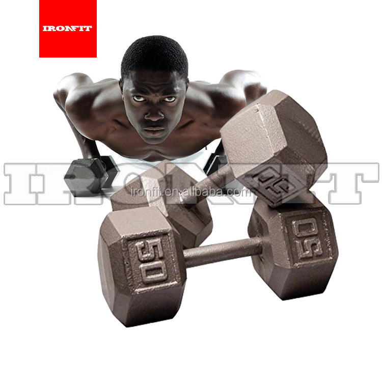 Groothandel Gym Apparatuur Pure Iron Hexagon Dumbbell