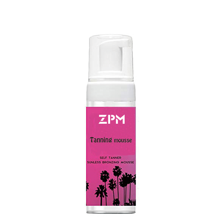 ZPM OEM/ODM Private Label Amazon Vendita Calda 100% Naturale Abbronzatura Spray Sunless Profondo Scuro Sole Tan Tanning Mousse