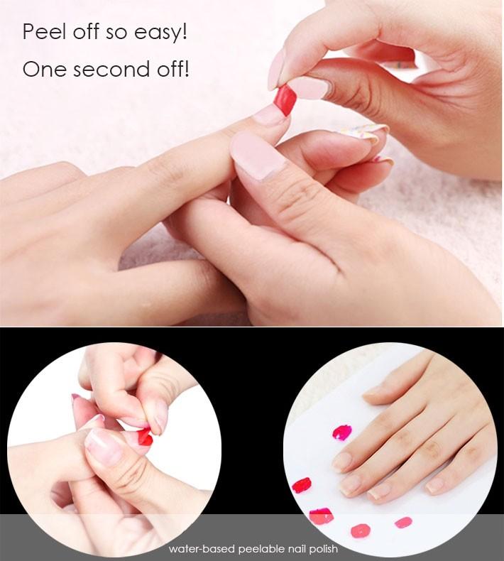 Nail Color Etiquette: Étiquette Votre Logo à Base D'eau Pelable Vernis à Ongles