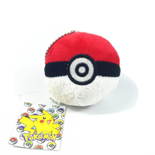 best made pokemon pokeball type keychain plush toys
