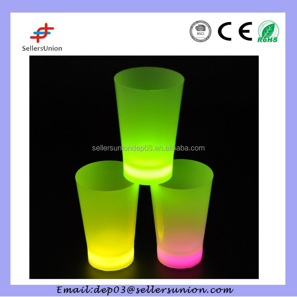 Party and glow concert decorations items, led glow cup and saucer
