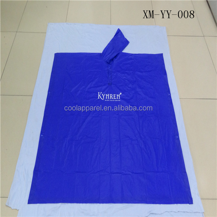 most popular disposable poncho rain coat pvc for adult