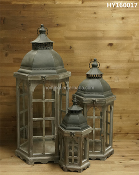 Best Sale Home Decorative Lantern Large Woode Antique Candle