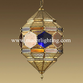 Moroccan Antique Outdoor Decorative Brass Chandeliers