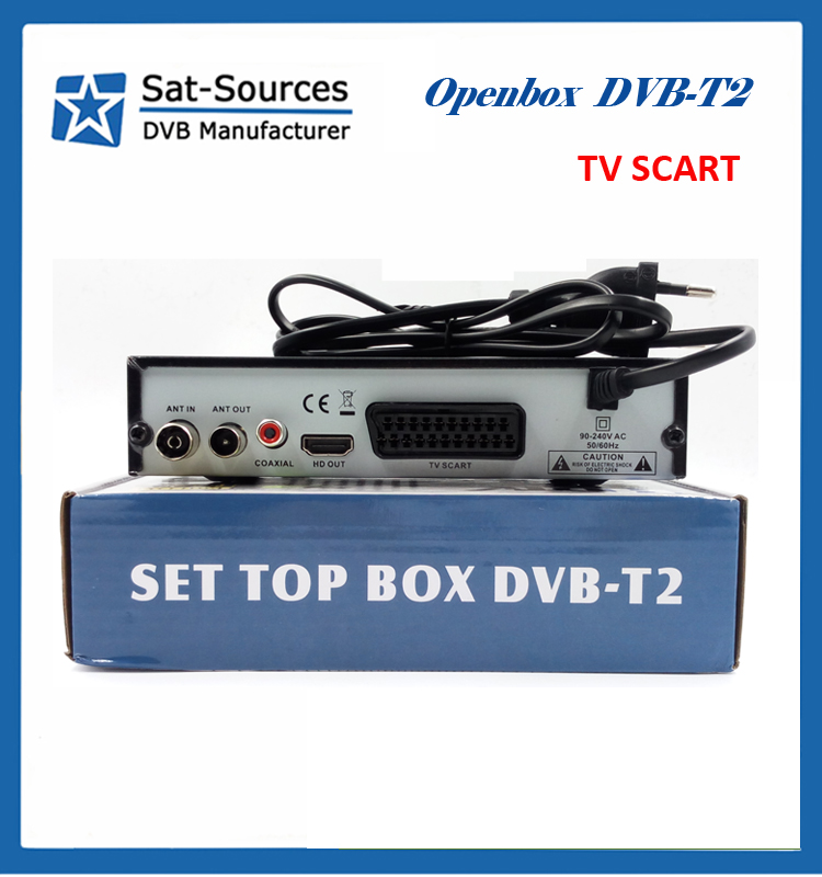 wholesale set top box MPEG-4 DVB-T2 satellite receiver for Europe with TV SCART OPENBOX