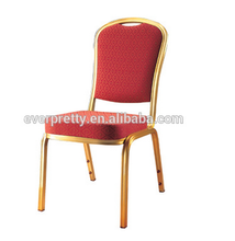 China wholesale cheap price gold aluminum steel stackable hotel banquet hall chairs