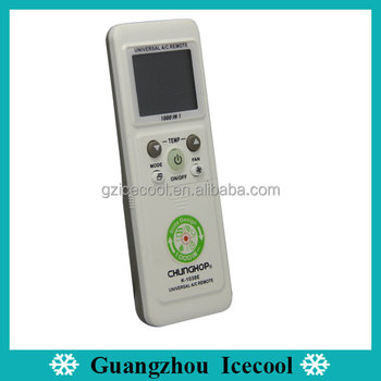 Blister Or Paper Box Packing Chunghop Universal Remote Codes K-1038e  Universal A/c Remote Control - Buy Universal A/c Remote Control,Chunghop