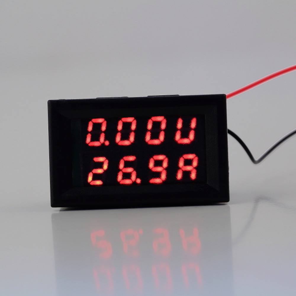 1pc Best Selling Red Blue LED DC 0-100V 10A Dual Digital Voltmeter Ammeter Current Meter Panel Amp Volt Gauge Hot Worldwide
