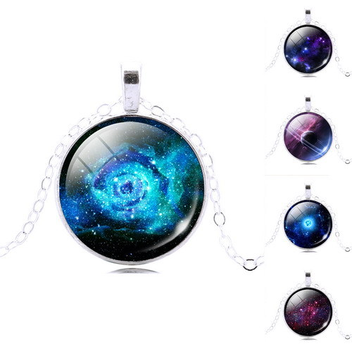 New fashion galaxy necklace,ashion Nebula turquoise space ...