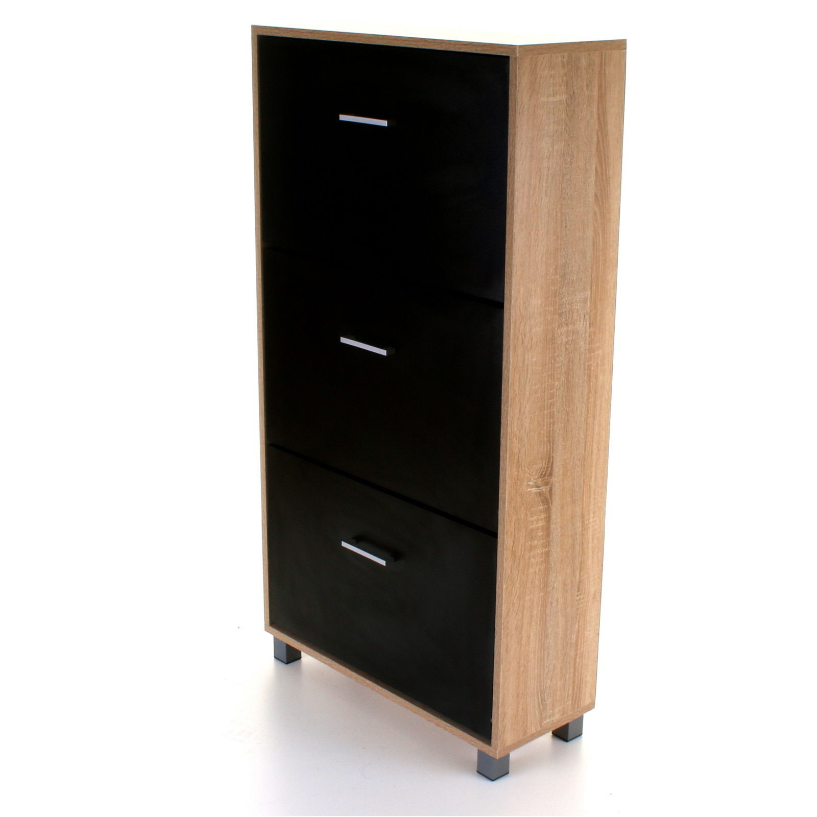 3 Drawers Shoe Cabinet Rack Storage Wooden Furniture