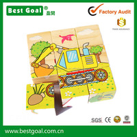 Wooden Animals 3D Puzzle Blocks 6 surface wooden puzzle- navvy