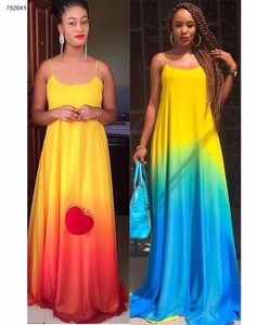 wholesale 2 colors spaghetti strap long maxi dress women fashion clothing 2017