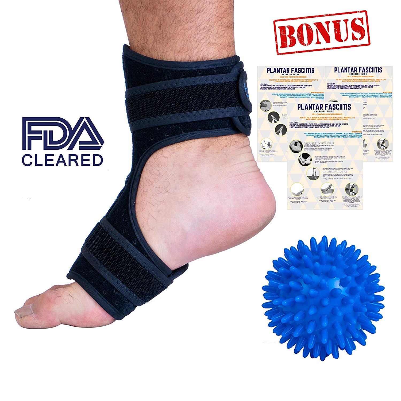 01470b7855 Plantar Fasciitis Night Splint by Marvel Med | Dorsal Foot Splint for  Plantars Fasciitis | Adjustable Brace for Achilles Tendonitis | Adjustable  Size for ...