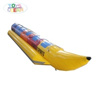 Inflatable Water Double Tubes Fly Fish Water Sports Banana Boat Water Play For Rantal