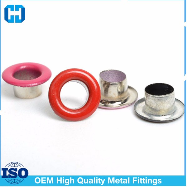 Colorful Metal Eyelet Grommet With Metal Washer Under Part