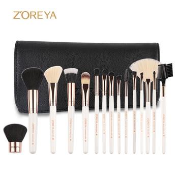 2017 synthetic hair brush white handle vegan best makeup brushes set