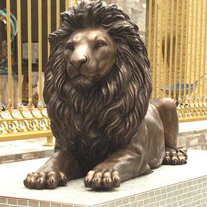 New design bronze lion statues front porch for front door