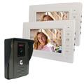 7 Video Intercom Video Door Phone Doorbell Intercom Kit IR Night Vision Camera Monitor for Home