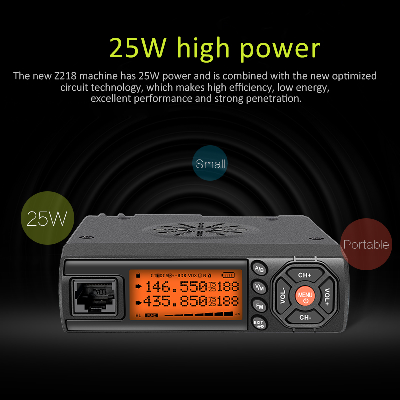 Mini Z218 Vehicle Mouted Dual band Mobile Radio Ham Radio Car Transceiver