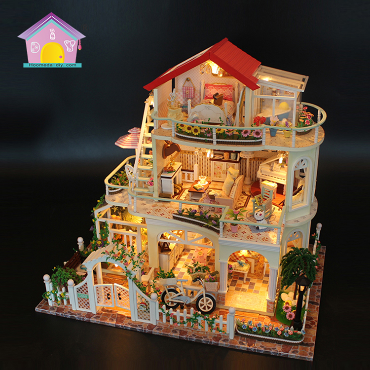 Handmade Furniture Doll House Diy Miniature Doll House 3d Wooden Dollhouse Miniatures Toys For Christmas And Birthday Gift Q4 Durable Service Toys & Hobbies Architecture/diy House/mininatures
