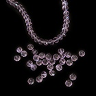 10 Strands/Lot 2mm-12mm Lilac Color Faceted Glass Rondelle Beads Jewelry Making Diy Beads for Bracelets and Necklaces