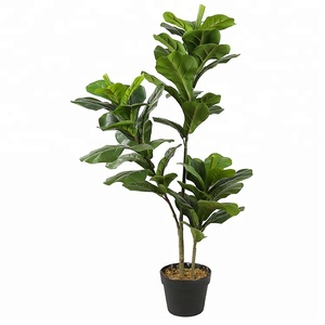 Eco-Friendly PEVA 1.0m Fiddle Leaf Fig Tree Artificial Fake Indoor Plants