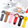 Cartoon headphone wire usb cable tie clips winder wrap earphone cord organizer