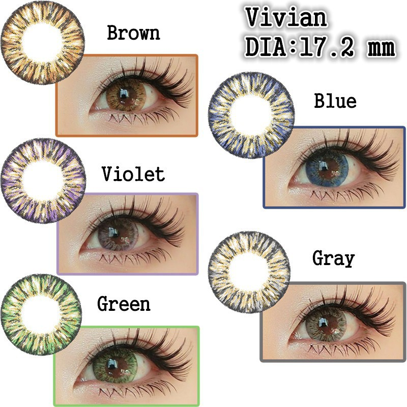 Nice Colors Big Diameter 3 Tone 17.2mm Funny Big Eyes Korea ...