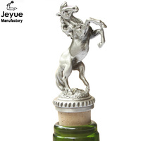 Professional supply high quality Johnnie walker wine stopper wildlife handmade metal bottle stopper gift