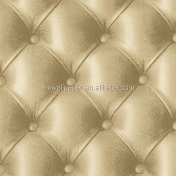 2014 New 3d Wallpaper Beige Color Leather Wallpapers For ...