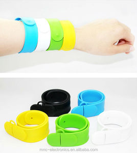 Creative gift fashion colorful Bracelet silicon wristband 2G 4G 8GB 16GB USB Flash Drives 2.0 Memory Drive Stick Pendrive