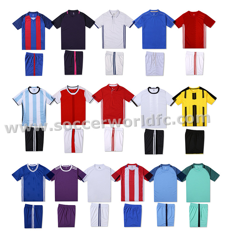 2017/2018 Latest new design popular sublimation top quality soccer kit