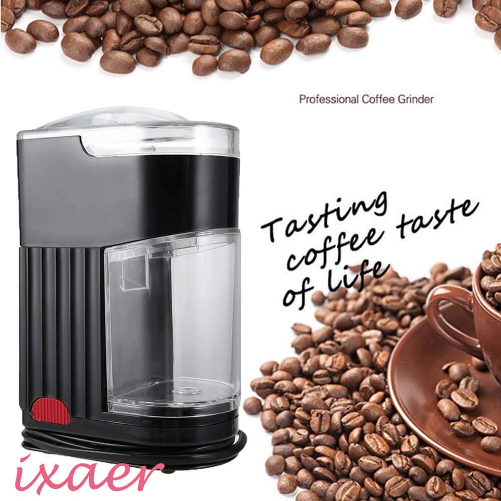 Coffee Bean Grinder Machine, ixaer Household Electric Coffee Grinder/Bean Spice Maker/Grinding Machine/US Plug/Automatic Electric Coffee Bean Grinder Machine.