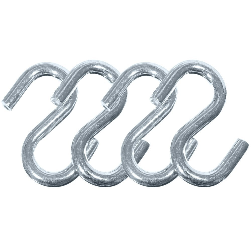 Tie-Downs S-Shaped Easy to Use Design Pack of 10 West Coast Paracord Black 8mm Plastic Paracord Hooks Great for Trailer Straps Backpack Straps Tarp Straps and Much More!
