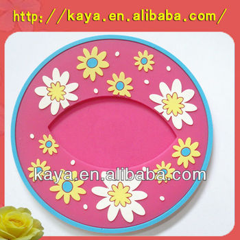Anti-slip ATBC-PVC tea cup coaster for promotion gifts